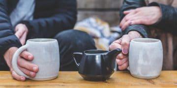 Taza de té café