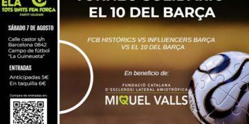 torneo solidario el 10 del Barça ELA