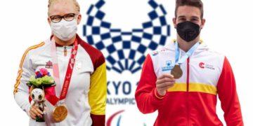 Adiaratou Iglesias y Adrian Mosquera en los Juegos Paralimpicos Tokio 2020
