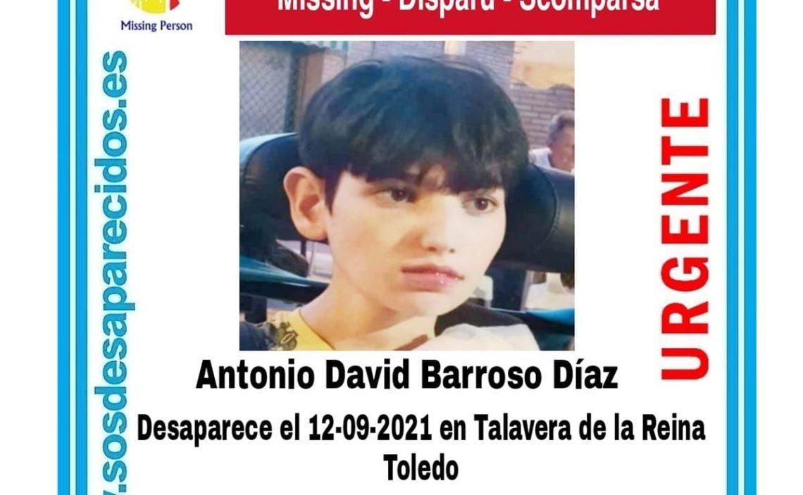 antonio david barroso diaz discapacidad menor desaparecido