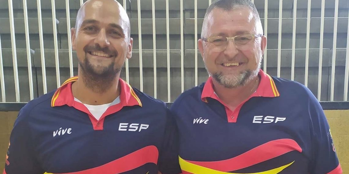 Abraham Carrion y David Benítez selección española baloncesto en silla de ruedas