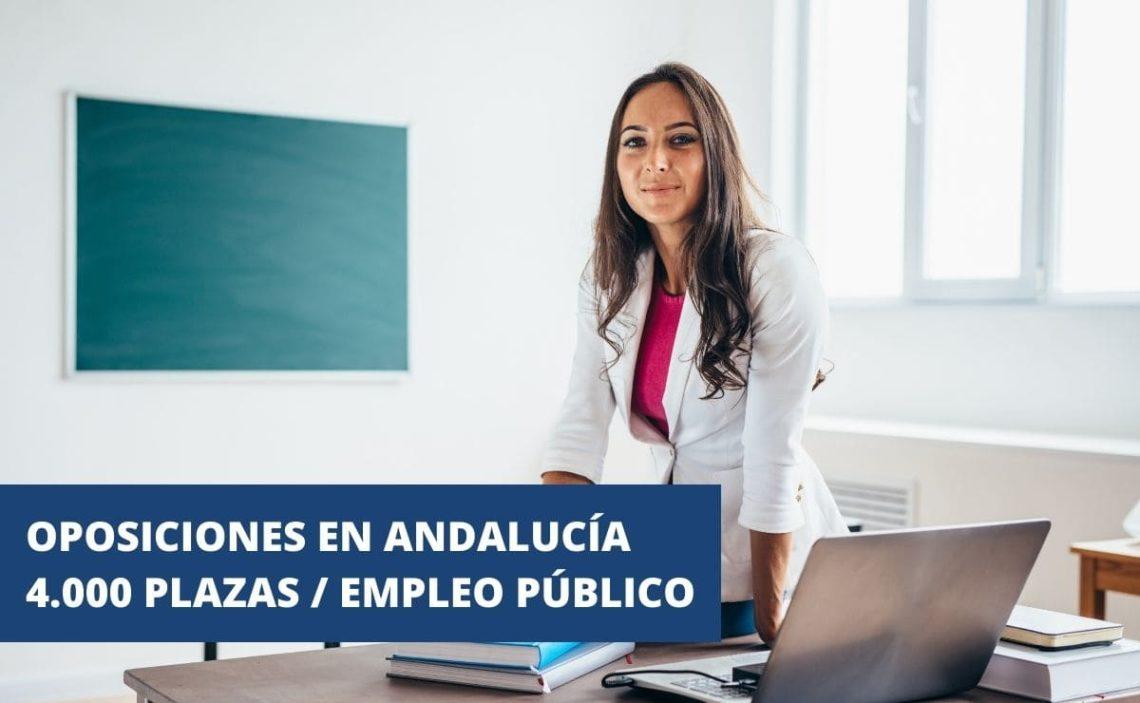 Andalucía anuncia oposiciones para 4.000 plazas de empleo público en educación