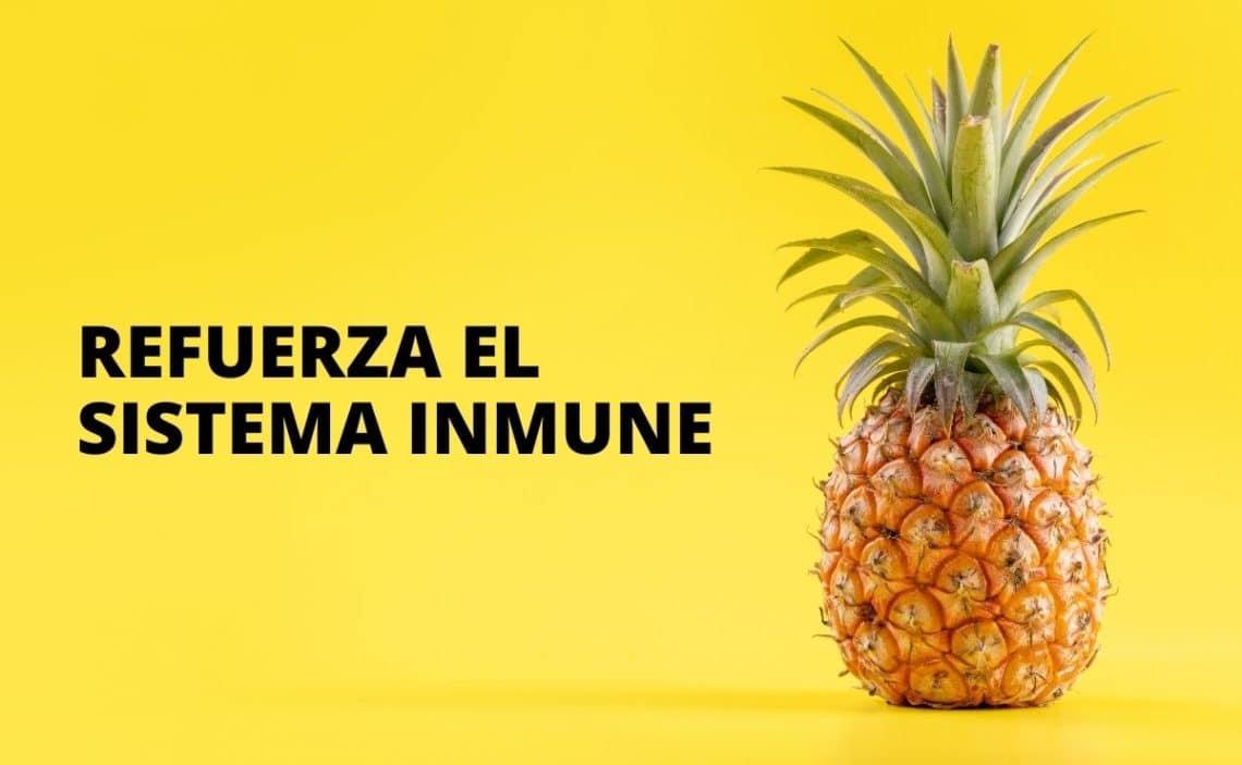 Fruta Piña sistema inmune