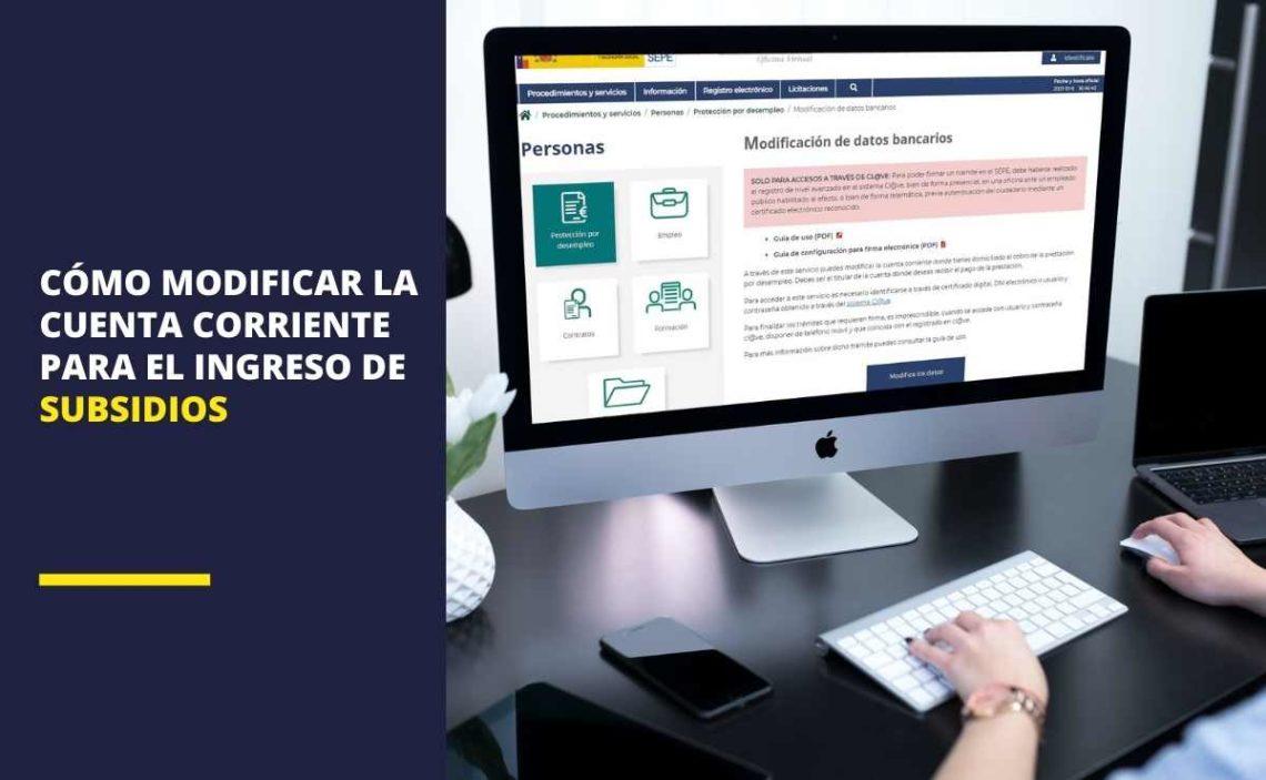SEPE: Cómo modificar la cuenta corriente para el ingreso de los subsidios