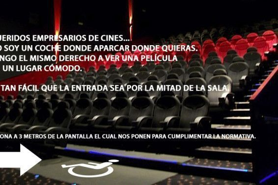 cines no accesibles